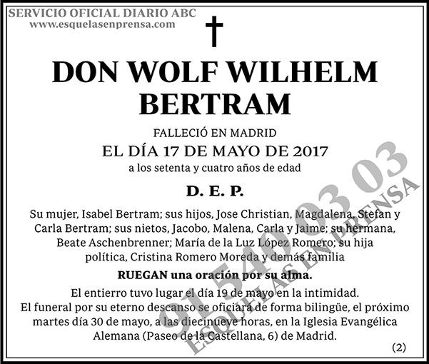 Wolf Wilhelm Bertram